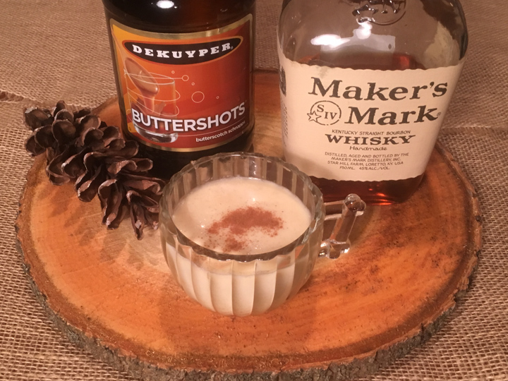 Butterscotch Bourbon Eggnog